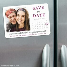 Calendar Couple Nb1 3 Refrigerator Save The Date Magnets