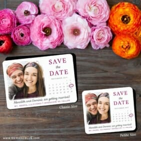 Calendar Couple Nb1 2 Save The Date Magnet Classic And Petite Size