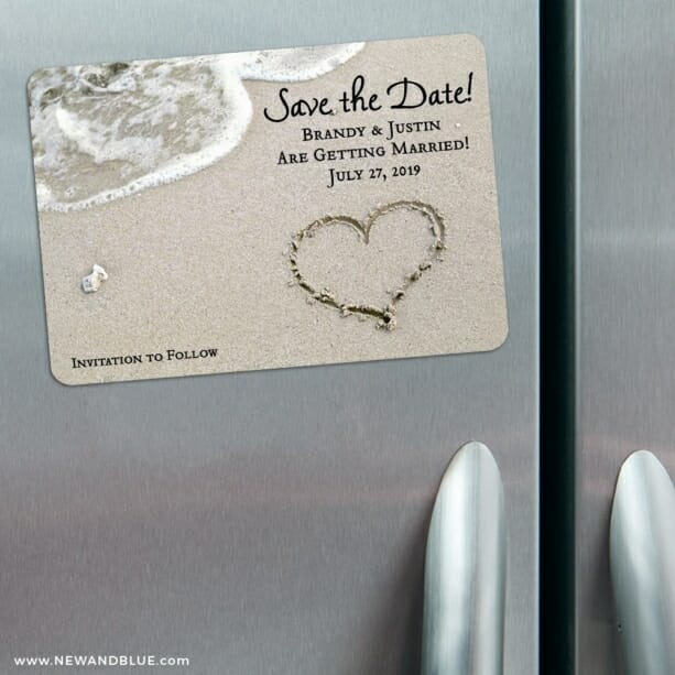Heart On Beach Nb 3 Refrigerator Save The Date Magnets