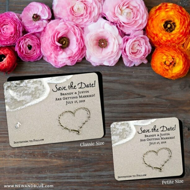 Heart On Beach Nb 2 Save The Date Magnet Classic And Petite Size