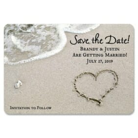 Heart On Beach Nb 1 Save The Date Magnets