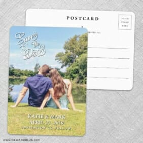 Amsterdam Nb Save The Date Wedding Postcard Front And Back