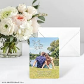 Amsterdam Nb Save The Date Card With Envelope