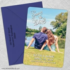 Amsterdam Nb 5 Save The Date With Optional Color Envelope