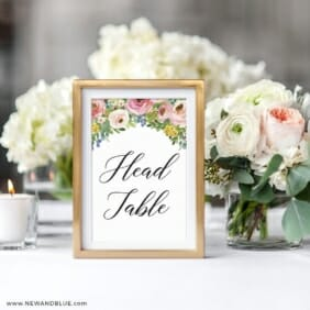 Bright Blooms Pink Reception Table Number In Frame