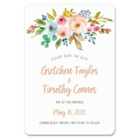 Watercolor Flowers 1 Save The Date Magnets