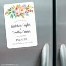 Watercolor Flowers 3 Refrigerator Save The Date Magnets