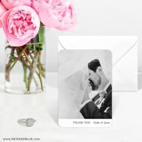 Classic Thank You 6 Wedding Save The Date Magnets