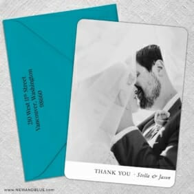 Classic Thank You 5 Save The Date With Optional Color Envelope