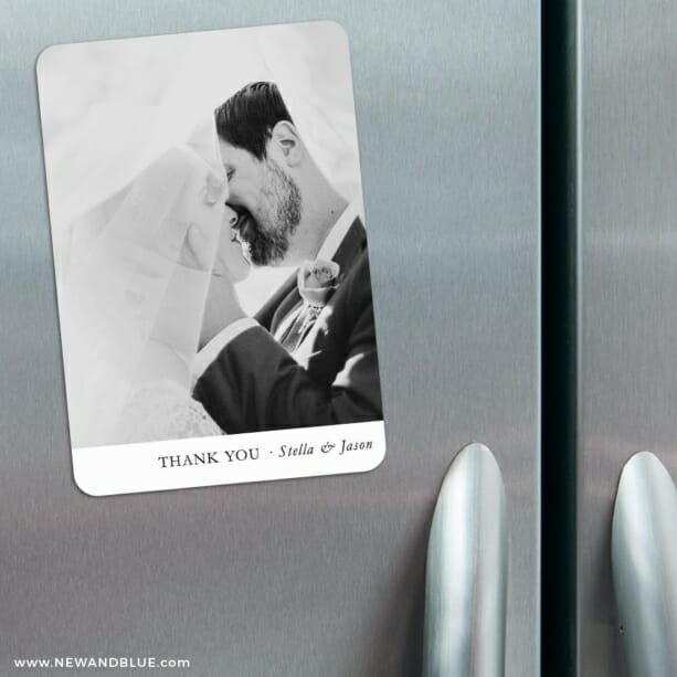Classic Thank You 3 Refrigerator Save The Date Magnets