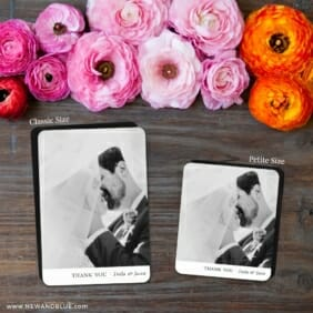 Classic Thank You 2 Save The Date Magnet Classic And Petite Size