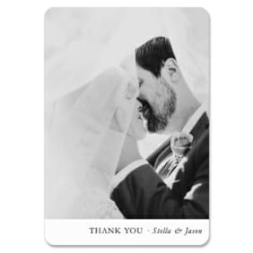 Classic Thank You 1 Save The Date Magnets