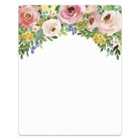 Bright Blooms Invitation Pink Blank Cardstock Sign
