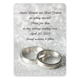 With This Ring Nb Save The Date Postcards