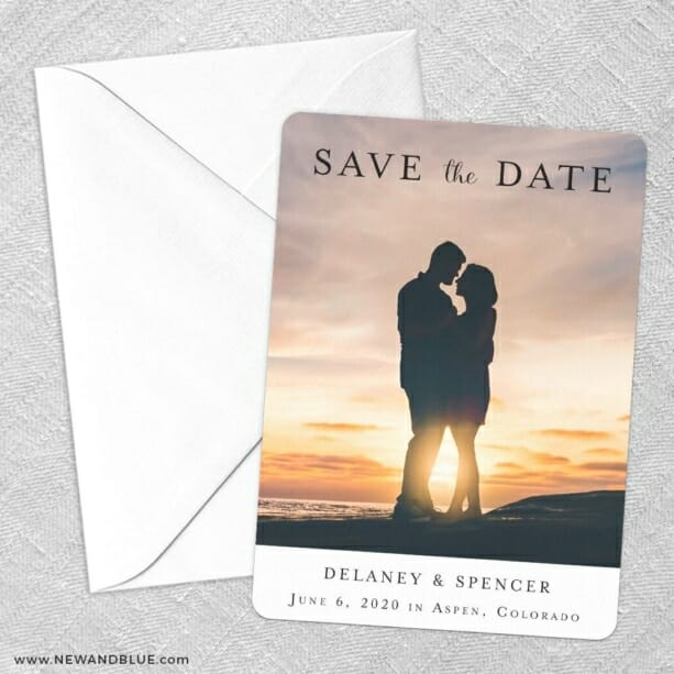 Cherished Save The Date Party Card