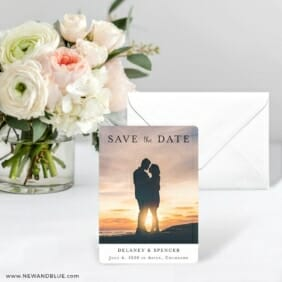 Cherished Save The Date Card With Envelope