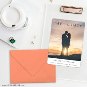 Cherished Save The Date Cards And Optional Color Envelopes