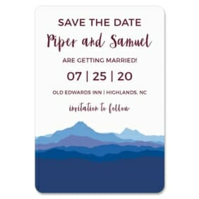 Blue Ridge Mountain Nb 1 Save The Date Magnets