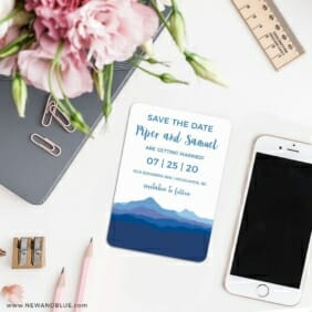 Blue Ridge Mountain Nb 7 Wedding Save The Date Magnets