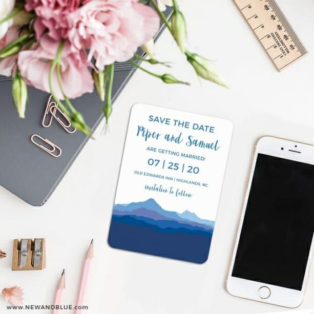 Blue Ridge Mountain Nb 7 Wedding Save The Date Magnets