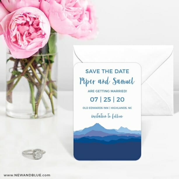 Blue Ridge Mountain Nb 6 Wedding Save The Date Magnets