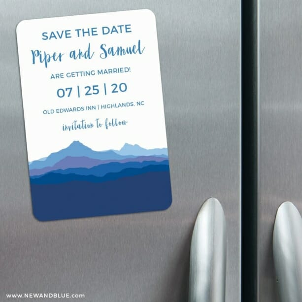 Blue Ridge Mountain Nb 3 Refrigerator Save The Date Magnets