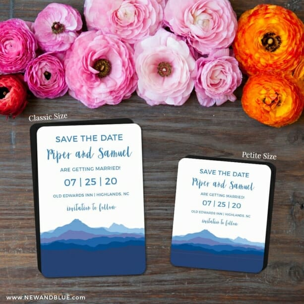 Blue Ridge Mountain Nb 2 Save The Date Magnet Classic And Petite Size