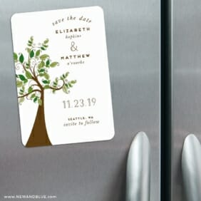 Wedding Tree Nb 3 Refrigerator Save The Date Magnets