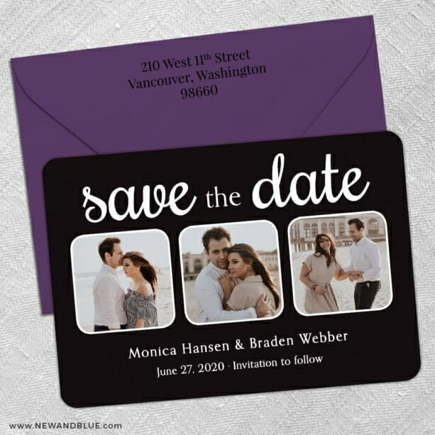 Live And Laugh Nb 5 Save The Date With Optional Color Envelope