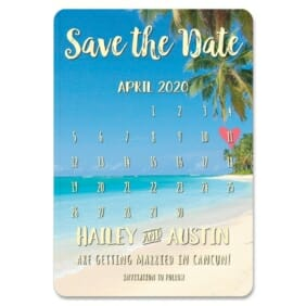 Beach Calendar 1 Save The Date Magnets