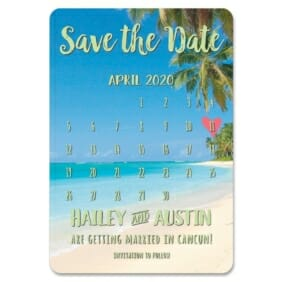 Beach Calendar 1 Save The Date Magnets