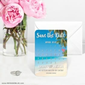 Beach Calendar 6 Wedding Save The Date Magnets