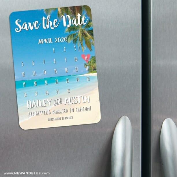 Beach Calendar 3 Refrigerator Save The Date Magnets