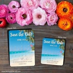 Beach Calendar 2 Save The Date Magnet Classic And Petite Size