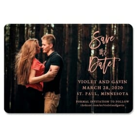 Enchanted Embrace 1 Save The Date Magnets