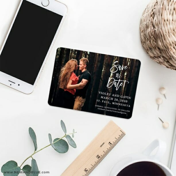 Enchanted Embrace 7 Wedding Save The Date Magnets