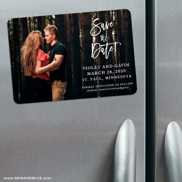 Enchanted Embrace 3 Refrigerator Save The Date Magnets