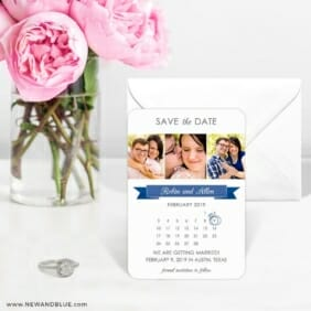 Calendar Collage Nb 6 Wedding Save The Date Magnets