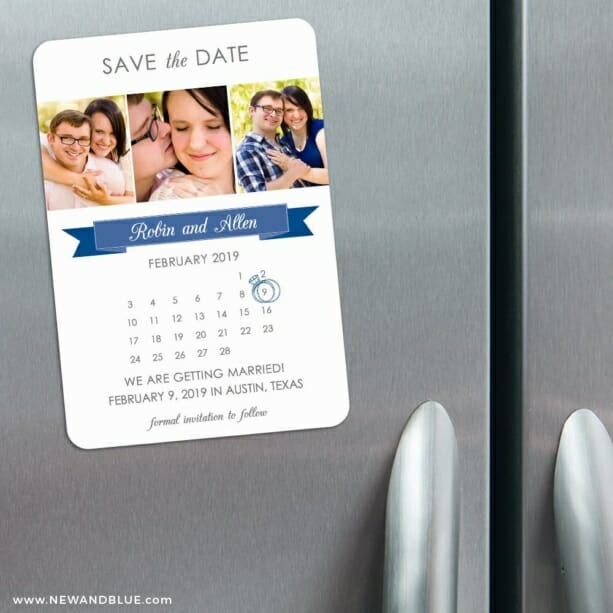 Calendar Collage Nb 3 Refrigerator Save The Date Magnets