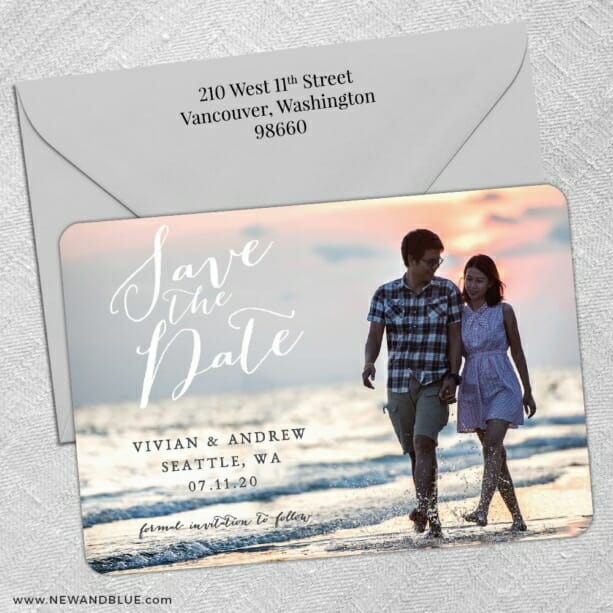 Always Yours Nb 5 Save The Date With Optional Color Envelope