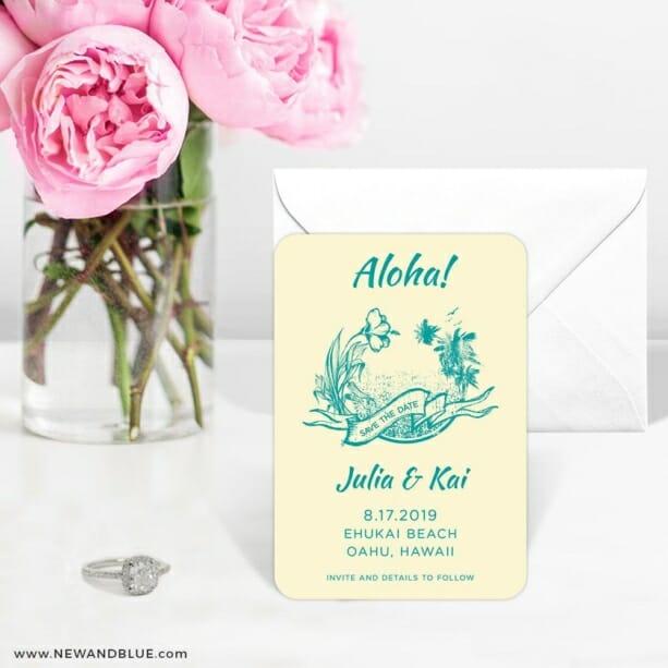 Aloha Nb 6 Wedding Save The Date Magnets