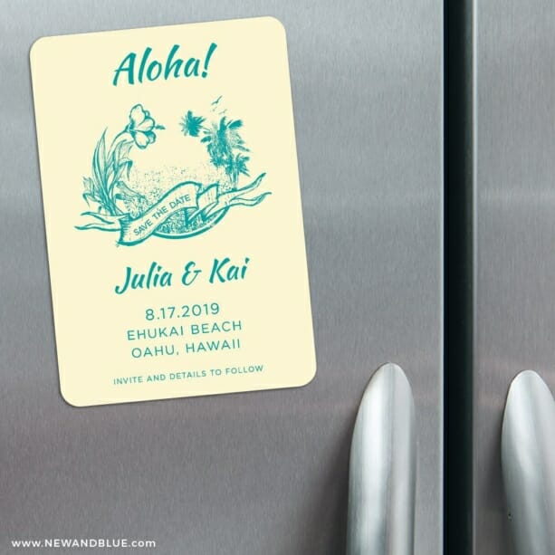 Aloha Nb 3 Refrigerator Save The Date Magnets