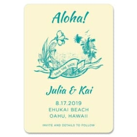 Aloha Nb 1 Save The Date Magnets