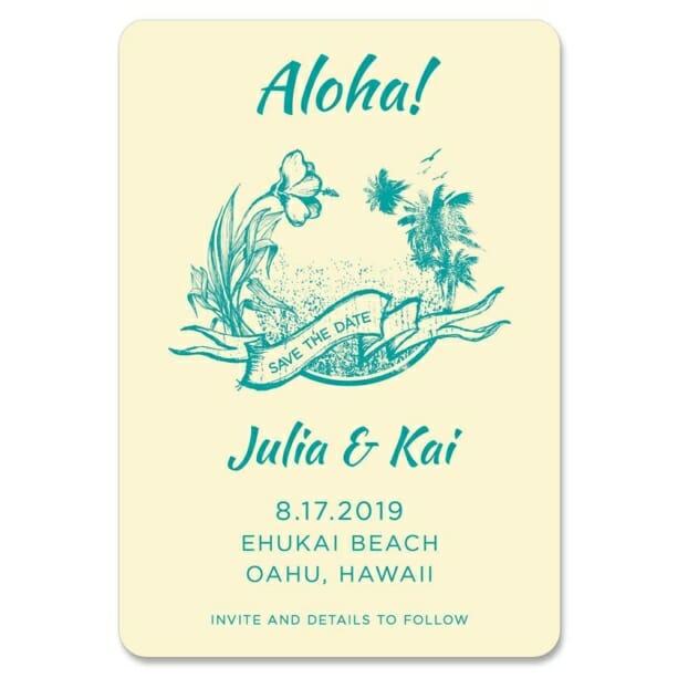 Aloha Nb 1 Save The Date Magnets