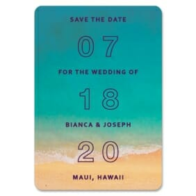 Classic Outline 1 Save The Date Magnets