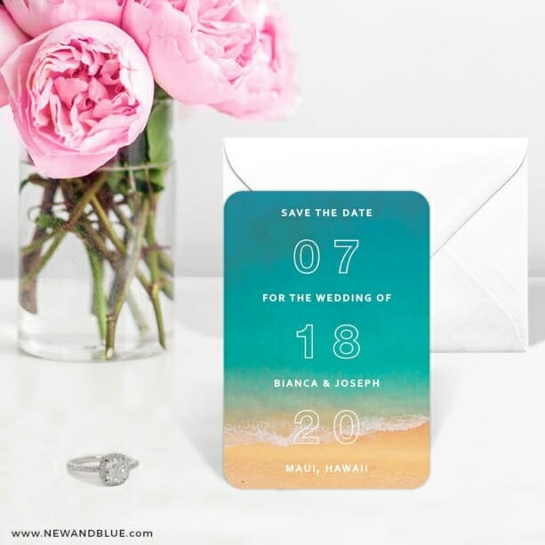 Classic Outline 6 Wedding Save The Date Magnets