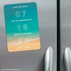 Classic Outline 3 Refrigerator Save The Date Magnets