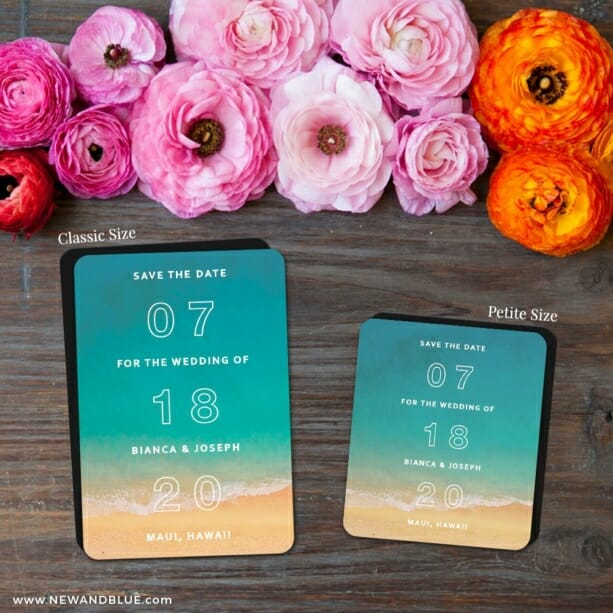 Classic Outline 2 Save The Date Magnet Classic And Petite Size