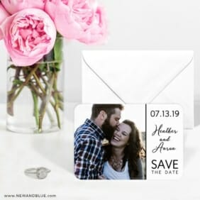 At Last Nb 6 Wedding Save The Date Magnets