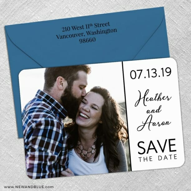At Last Nb 5 Save The Date With Optional Color Envelope